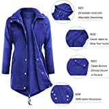 Uniboutique Raincoat Waterproof Outdoor Hooded Lightweight Rain Jacket Windbreaker