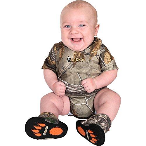 Rocky Junior Silent Hunter Baby Camo Onesie, Pink, 3-6 Months -