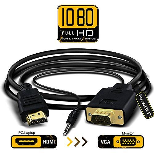 1080P HDMI Female to VGA Female Converter Adapter + Audio Cable - 6