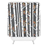 Deny Designs Lucie Rice Birches Be Crazy Shower Curtain, 69'' x  90''