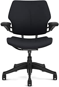 HumanScale Freedom Office Desk Chair - Graphite Frame - Graphite Fabric