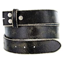 Vintage Look Distressed Leather Strap Belt Snap on for Buckles