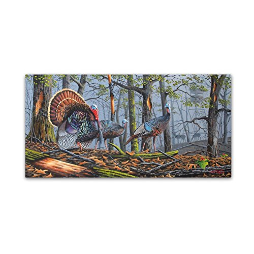 Trophy Strut by Geno Peoples, 12x24-Inch Canvas Wall Art