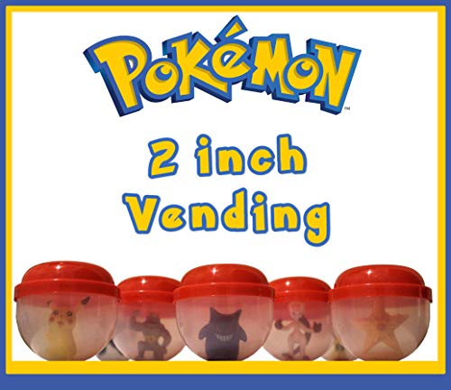 Pocket Monsters Character Figurines in 2 Inch Capsules - 250CT with FREE Vending Display