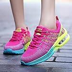 Homme Femme Chaussures de Running Sport Basket Respirante Travail Trail Sneakers Noir Rose Gris 35-46 8