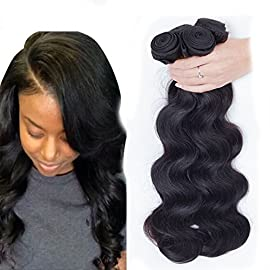 Dream Show Brazilian Human Hair Body Wave 100% Hair Extensions Weft Weave Natural Color 1 Bundles/lot, 100g Total Grade 7A (8′)