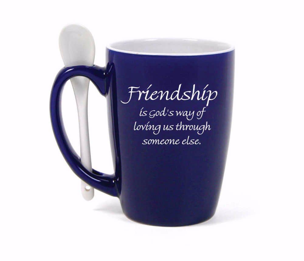 James Lawrence Friendship God loving us through someone else Spoon Mug 15 oz 5114