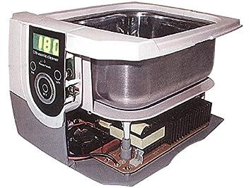 RCE Bandeja lavadora por ultrasonidos con pantalla LCD para limpiar cartuchos, joyas, relojes,