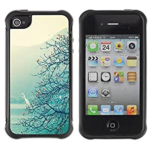Suave TPU GEL Carcasa Funda Silicona Blando Estuche Caso de protección (para) Apple Iphone 4 / 4S / CECELL Phone case / / Lake Tree View Mist Magical /