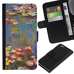 All Phone Most Case / Oferta Especial Cáscara Funda de cuero Monedero Cubierta de proteccion Caso / Wallet Case for Apple Iphone 6 // Painting Art Water Flowers