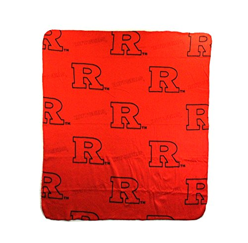 The Northwest Company NCAA Rutgers Scarlet Knights Repeated Logo Fleece Throw, 50-inch by 60-inch (Knights Scarlet Rutgers Logo)