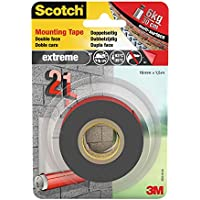 Scotch montagetape dubbelzijdig, extreem sterk, grijs 19mm x 1.5m