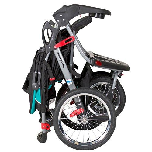 51ZopG1q6JL - Baby Trend Navigator Double Jogger Stroller, Tropic