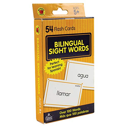 Carson Dellosa - Spanish Sight Words Flash Cards - ESL Bilingual Cards for Phonics, Reading, Second Language Kindergarten Toddlers, 1st Grade, Ages 5+ ()