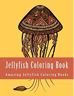 Jellyfish Coloring Book Large Print Easy For Grownups