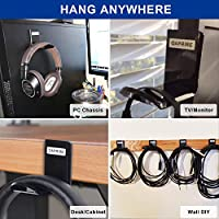 Acrylic Headphone Stand Headset Desk Holder Display Hanger Rack 22*12*6.6cm