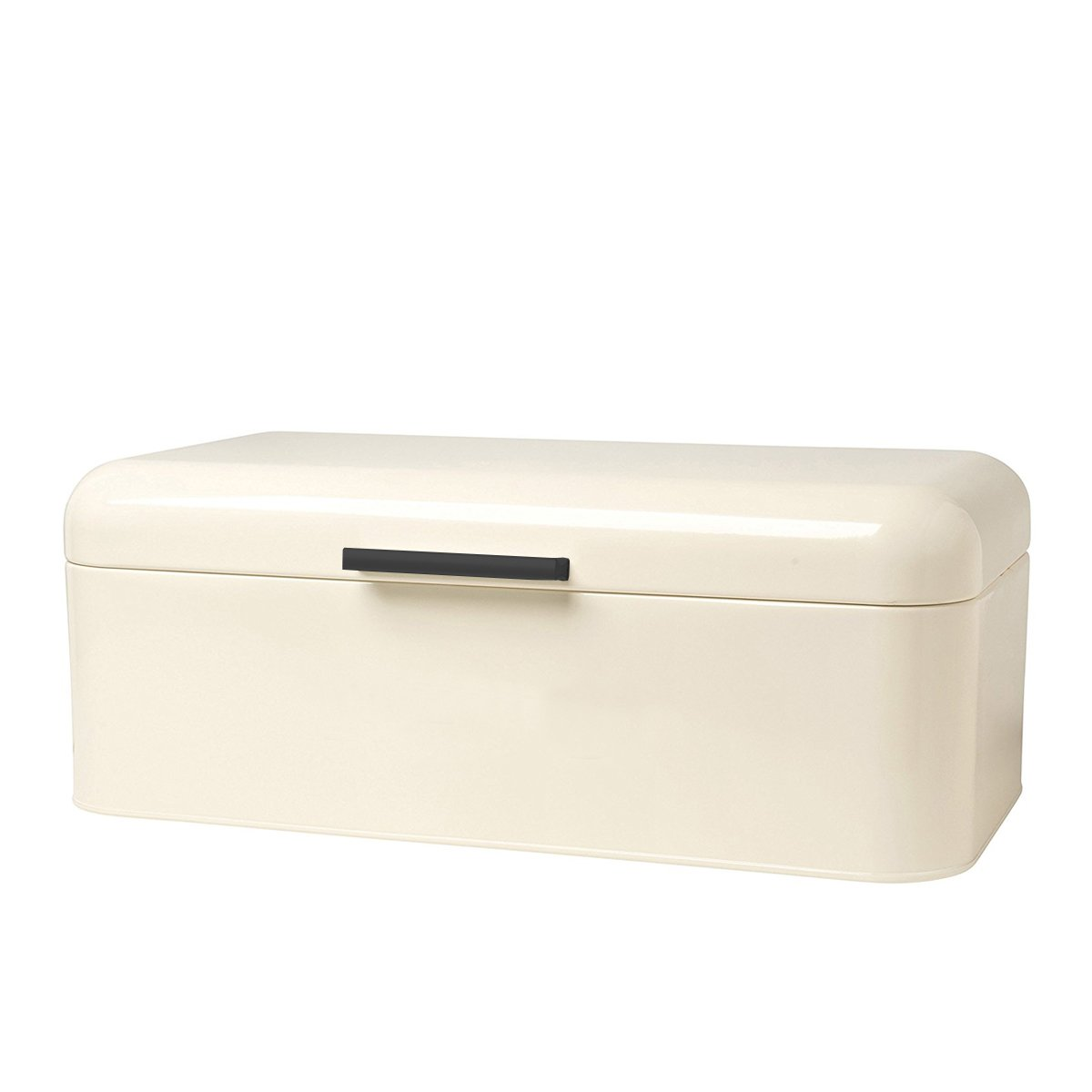 Homelet Bread Box - Vintage Retro Stainless Steel Powder Coated Bread Bin Storage with Lid for Kitchen, Cream by Homelet