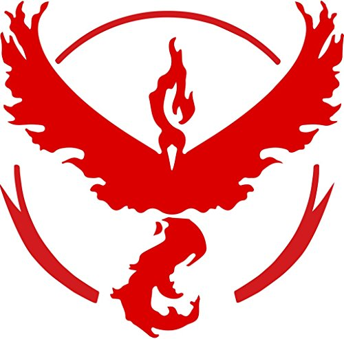 Price comparison product image Team Valor Pokemon Vinyl Decals Stickers(TWO PACK!!!)|Cars Trucks Vans Walls Laptops|RED|2-5.5 In Decals|KCD706