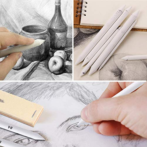 Koogel 22 Pcs Shading Tools for Drawing, Student Sketch Drawing Tools Student Artist Sketch Drawing Blending Stump for Student Artist Charcoal Sketch Drawing Tools