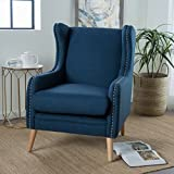 Cheap Rosella | Wingback Club Chair with Studded Accents | in Navy Blue