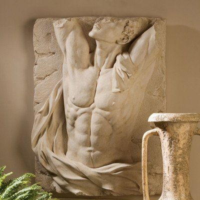 Design Toscano The Torso of Adonis Bas-Relief Wall Frieze