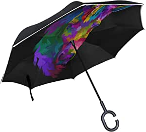 Double Layer Inverted Inverted Umbrella Is Light And Sturdy Heuchera After Rain Reverse Umbrella And Windproof Umbrella Edge Night Reflection