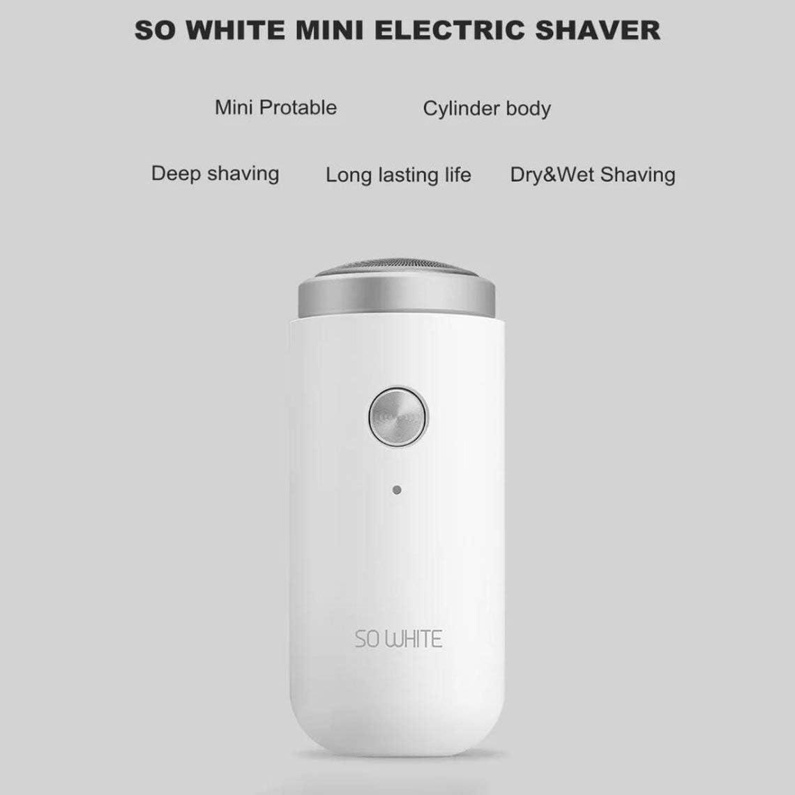 Zinniaya Maquina de Afeitar eléctrica eléctrica Blanca, portátil ...