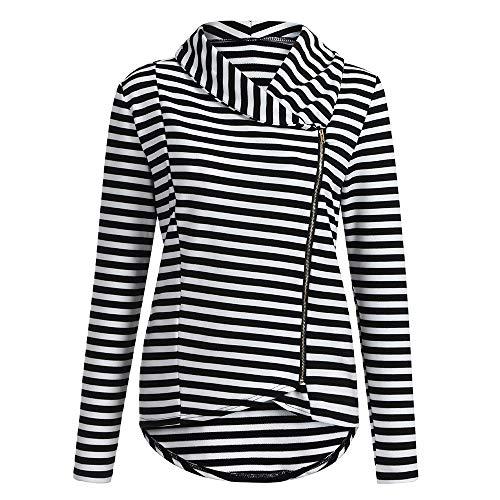 Sweatshirt Hiver Shobdw À Hoodie Capuche Mode Manteau Tops Noir Rayé Veste Blouson Blouse Femme Casual Devant Thin Pullover qvwUrvERn