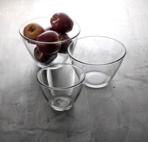 anchor hocking 3 quart splash proof glass mixing bowls set of 2 new ebay. Black Bedroom Furniture Sets. Home Design Ideas