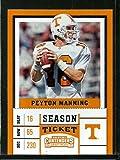 #9: 2017 Panini Contenders Draft Picks Season Ticket #81 Peyton Manning Tennessee Volunteers Football Ca