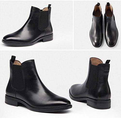 forro tobillo sintética piel talón con terciopelo comodidad Plus zapatos cálido 34 Casual regla soporte de 38 botas Martin Las Chelsea mujeres Chunky de vpq5vXa