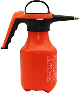 Beaugreen 1 Litre Water Sprayer One Hand Sprayer Portable Pump Pressure Sprayer for Garden Cleaning, General Watering and Spraying Orange