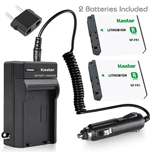 Kastar Battery (2-Pack) + Charger for Sony NP-FR1, BC-TR1, TRN and Sony Cyber-Shot DSC-F88, DSC-G1, DSC-P100, DSC-P100/LJ, DSC-P100/R, DSC-P120, DSCP150, DSC-P200, DSC-T30, DSC-T50, DSC-V3 Cameras
