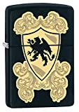 Zippo Pocket Lighter Black Matte Royal Griffin