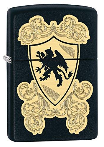 Zippo Pocket Lighter Black Matte Royal Griffin Pocket Lighter