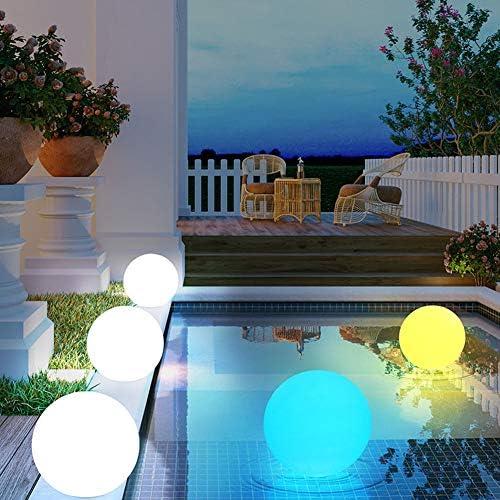 uuffoo Bola solar LED, luz de esfera flotante impermeable para ...