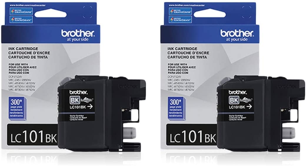 SET OF 4  GENUINE BROTHER LC101 LC101BK C//M//Y INK MFC J650DW J875DW