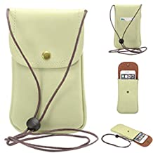 """Universal Cell Phone Cross-body Purse,Vertical Phone Shoulder Bag Soft PU Leather Carrying Cases for Apple iPhone 6s/6 Plus iPhone 6/6s,Samsung Galaxy S6 and Note Series and Phones Under 5.5""""-Green"""