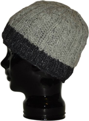 Authentic Soul Heather Grey Wool Knit Beanie - Flap Everest Hat