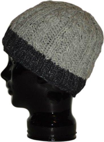 Authentic Soul Heather Grey Wool Knit Beanie - Hat Everest Flap