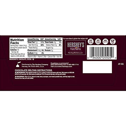 Amazon.com : HERSHEY\'S Kitchens Unsweetened Sweet Baking Chocolate ...