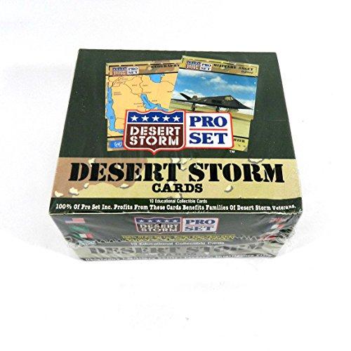 1991 Pro Set Desert Storm Series 1 Trading Card Box