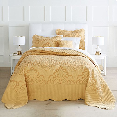 Brylanehome Amelia Bedspread (Honey Gold,King)
