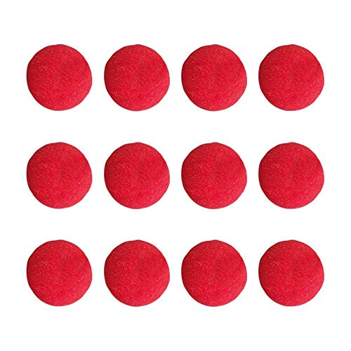 Teensery 12Pcs Foam Clown Nose Red Sponge Nose for Circus Costume Halloween Christmas Holidays Party Supplies