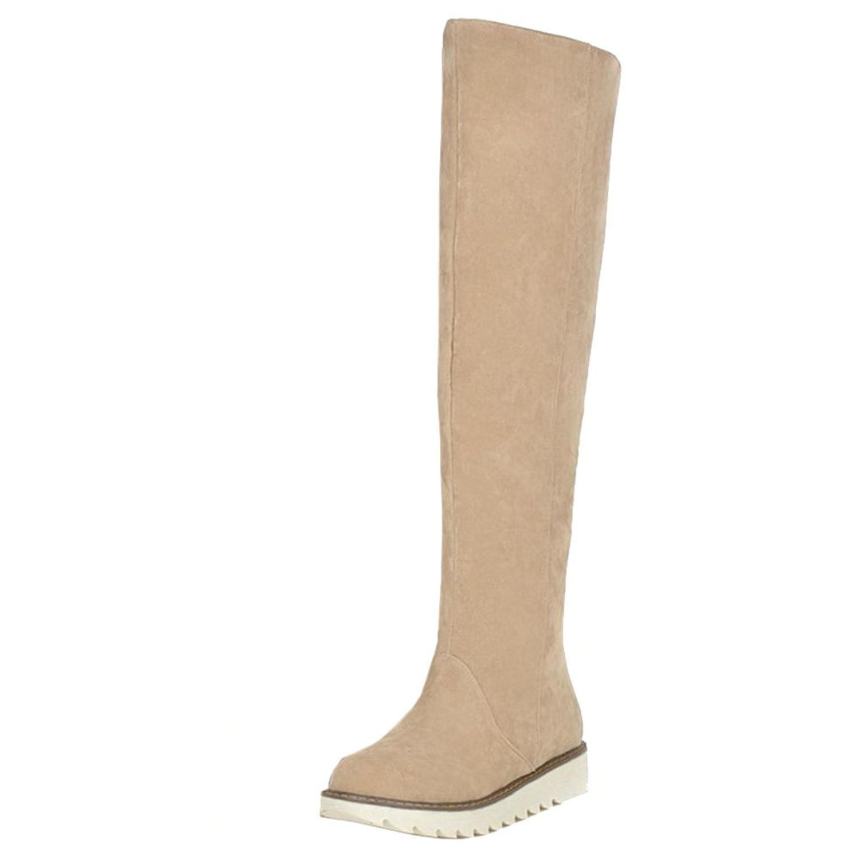 TAOFFEN Women Winter Long Snow Boots Flat Over Knee Warm Boots
