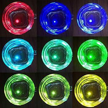 Accmor 100pcs LED Mini Round Ball Balloon Light, Flash Ball Lights for Paper Lantern Balloon Halloween Party Wedding Decoration(Multicolor) Halloween