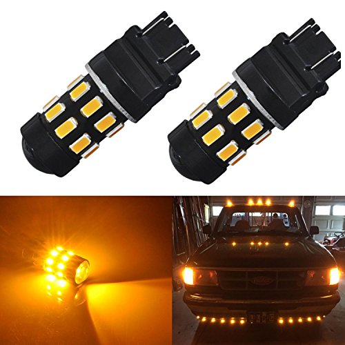 JDM ASTAR Super Bright 5730 Chipsets 3056 3156 3057 3157 LED Bulbs with Projector,Amber Yellow - 07 Ford F150 Projector