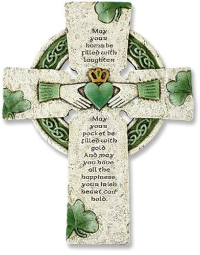 Decor Home Celtic (Irish Wall Cross with Traditional Irish Blessing)