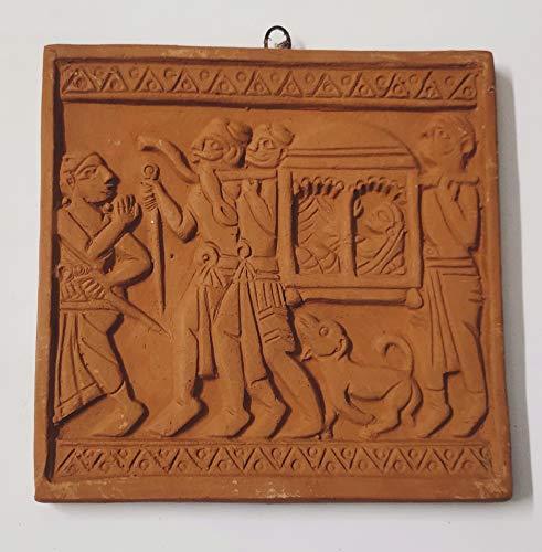 Mukherjee Handicraft's Terracotta Wall Hanging Showpiece for Home Décor Jamini Roy