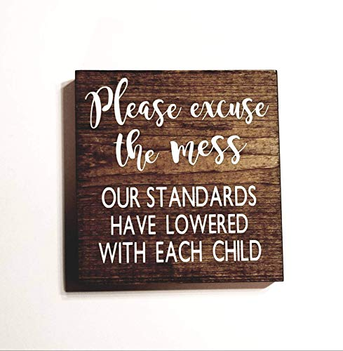 Please Excuse The Mess Rustic Home Decor, Funny Gifts, Farmhouse Decor,  Signs For Home Decor, Baby Shower Gift, Birthday Gifts For Women, Motheru0027s  Day Gift, ...